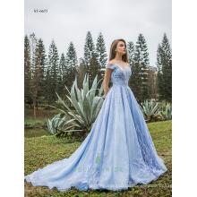 Elegante Kleider für Frauen Abend Spitze Kleid echte Fotos von Prinzessin Kleider