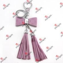 Borlas de couro da forma com jóia do metal para acessórios do saco das mulheres