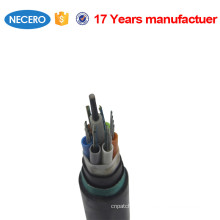 GYTY53 24 core single mode outdoor direct buried fiber optic cable for underground