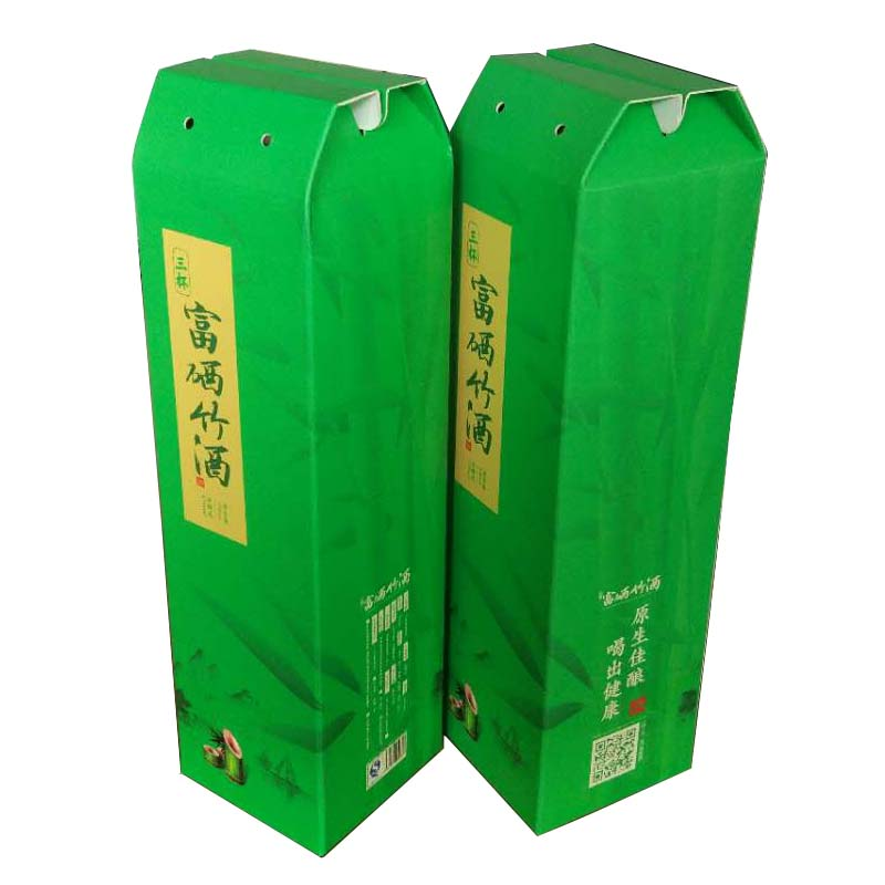 Colored Bamboo Wine Packaging Box