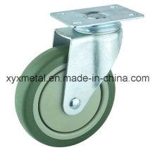 Mittlerer Zauberkolben. Doppellager PVC-Materialien mit Kunststoff-Staubabdeckung Mute Design. Meduim Duty Caster