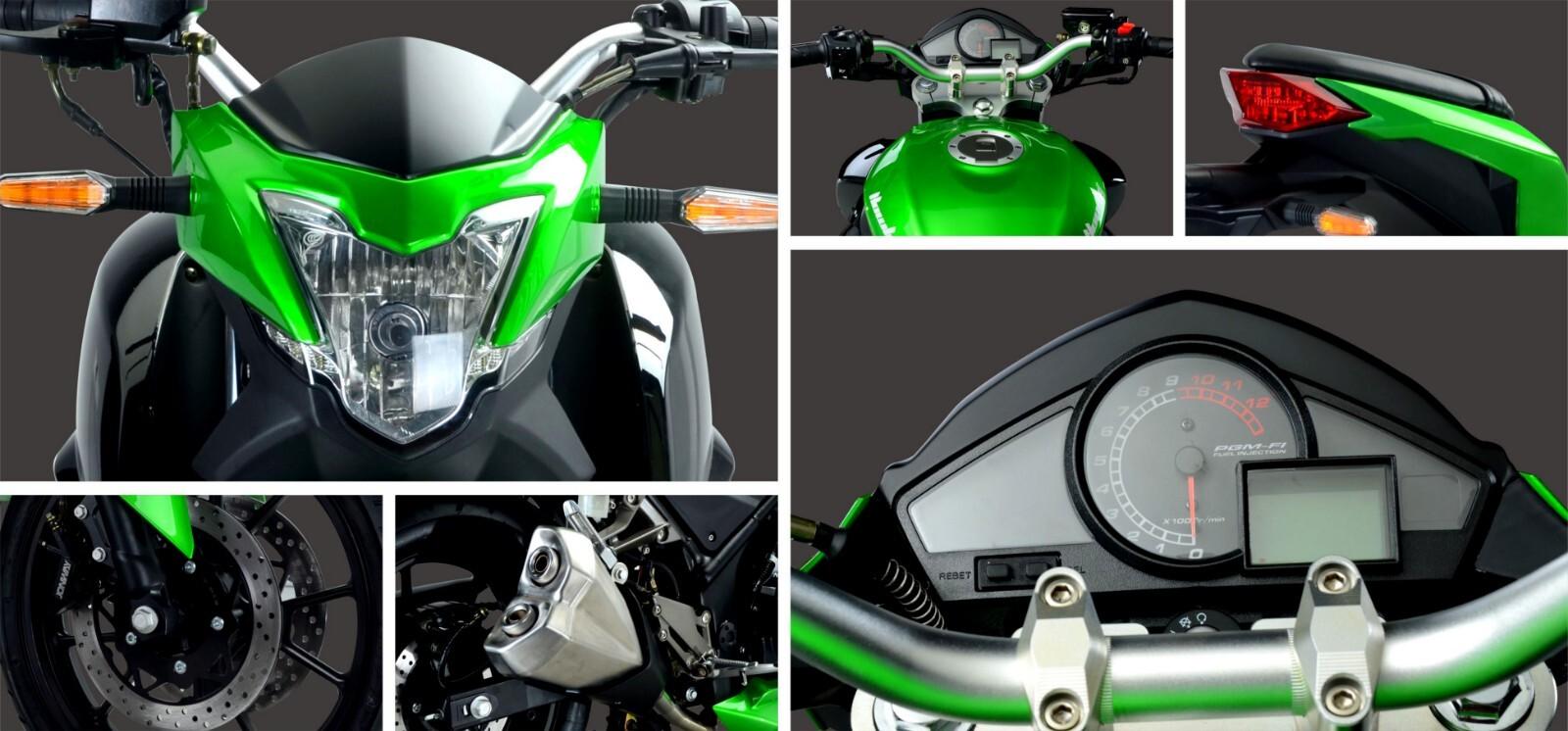 kawasaki motorcycle detailes