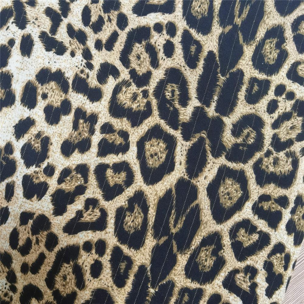 Leopard Animal Printed Cloth Material 100% Polyester Fabric