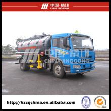 Reboque do petroleiro do produto químico em Delvery seguro, caminhão de depósito de gasolina (HZZ5164GHY)