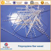 Fibra de engenharia macro ondulada plástica dos PP
