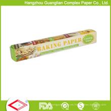 Rollos de papel para hornear Greaseproof Custom Grado 32sqft