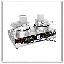 K526 2 Heads Counter Top Gas Popcorn Machine