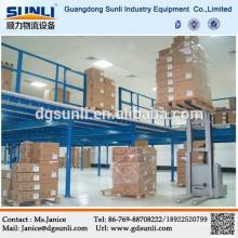 Warehouse Storage Adjusted Steel Mezzanine Floor Racking System