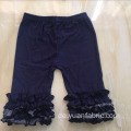 Dark Wash Kinder Rüschen Baumwolle Denim Capri Jeans