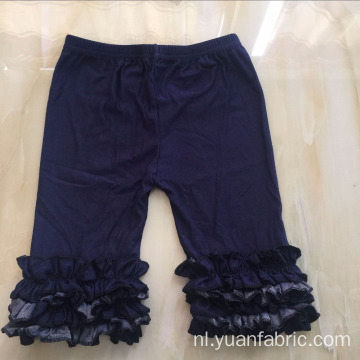 Dark Wash Kinderen Ruffle Cotton Denim Capri Jeans