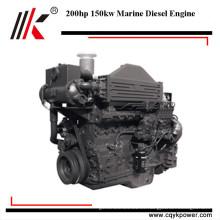 Precio favorable de 4 tiempos 200hp motores marinos intraborda diesel motor de barco de río