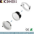 12W 4 tums Dämpbar Downlight White Black Silver