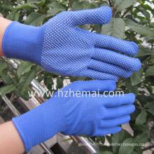 PVC Mini Dots Gants en polyester bleu Gant de travail de sécurité