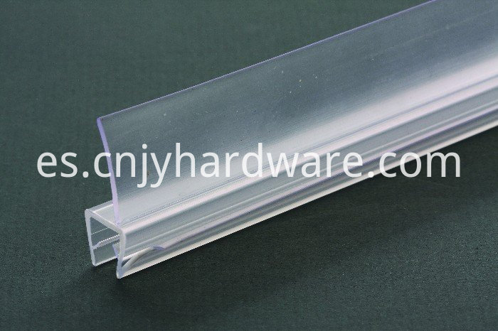 Clear Glas Bottom Seal Quality PVC material glass shower door seal
