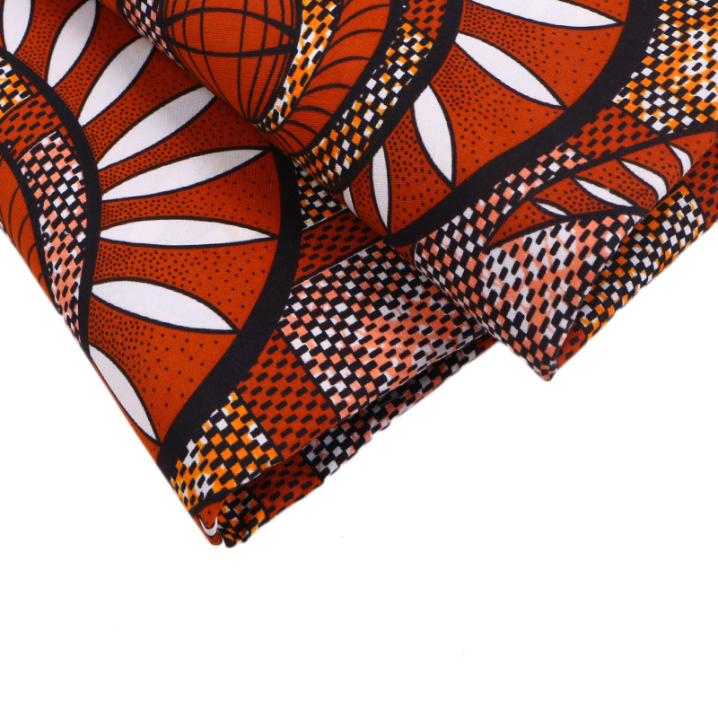 African Real Wax Sanhe Quality Wax Printing Fabric