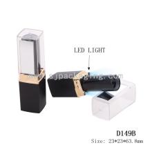 Moda LED tubo de lápiz labial vacío tubo de lápiz labial vacío con tubos de lápiz de labios impermeables espejo