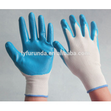 Nylon 13 gauge + gant nitrile, gant recouvert de nitrile