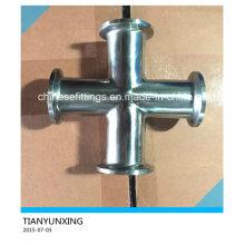 ANSI Seamless Stainless Steel Sanitary Fittings Tee Cross