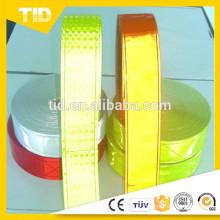 Micro fitas reflexivas de PVC prismáticas para colete de segurança
