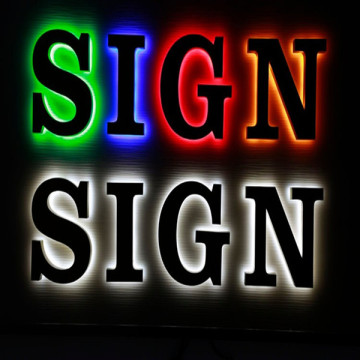 Reverse Halo Effect LED Lit Channel Letter