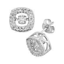 Heiße Verkäufe 925 silberne Bolzen-Ohrring-Tanzen-Diamant-Schmucksachen