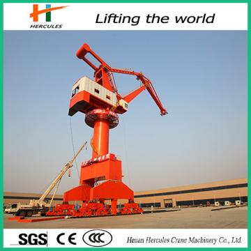 Heavy Rail Mounted Harbour Port Crane Seaport Use Portal Cranes