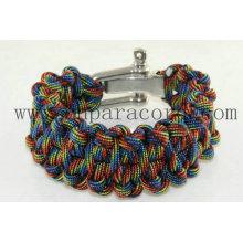 Novo estilo amplo pulseira paracord comprimento oem e cor disponível
