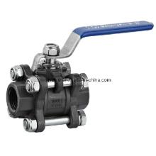 3pc monter le robinet à boisseau sphérique en acier