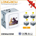Forme al por mayor el adaptador de la energía del Usb 5W mundial con el enchufe de Ul / Eu / Uk / Au / Ccc