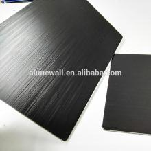 3mm thickness brush black aluminum composite panel acp