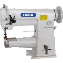 Máquina de costura de cama de cilindro uníssono de agulha única
