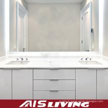 Armoires blanches de vanité de salle de bains de PVC avec le tiroir (AIS-B001)