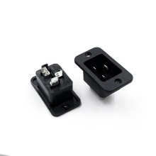 16A 3 Pin Ac Power Socket With Screw Hole IEC JR-305 C20 PDU Universal Electrical Output