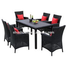 wicker furniture dining sets PE rattan outdoor aluminum chair