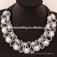 Gargantilha nova Gargantilha Black Crystal Necklace Acessórios Jóias na moda