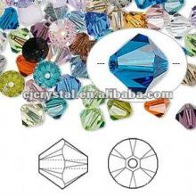 Perles de gros, gros perles de cristal