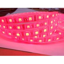 Un solo color rosa 24V Epistar IP68 Tira de LED Impermeable 5m Tiras de iluminación LED 60LEDs por metro
