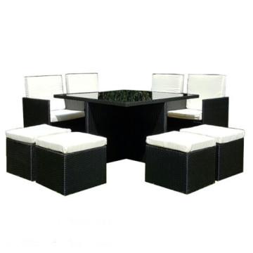 Ensemble de cube de salle à manger en bambou pratiquant Black PE