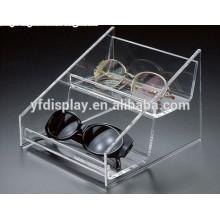 Modern Clear Acrylic 6 Eyewear Sunglasses Display Case Holder