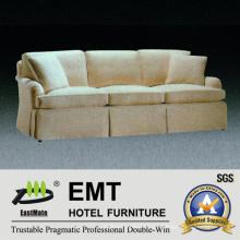 Sofá de sofá de tecido branco de estilo banquete Sofá de hotel (EMT-SF44)