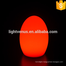 Egg shape coffee table lamps for restaurants