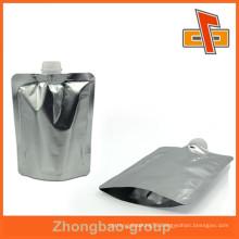 Superior quality foil spout, plastic nozzle pouch bag up to 12 colors printing