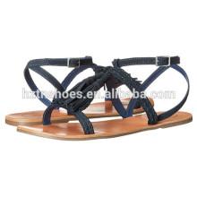 2016 Дамы Летние плоские сандалии обуви Последние Оптовая Женская мода Обувь