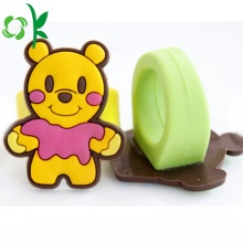 Lovely Yellow Bear Silicone 3D Cartoon Christmas Rings