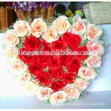 Оптовая продажа искусственных 2014 венок в форме сердца для свадьбы украшения