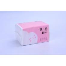Papel higiénico facial de tejido de bebé con paquete rosa