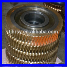 Large worm gear and worm shaft