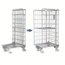 China Zinc Plated Folding Wire Roll Container Manufacturer