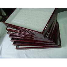 Bandeja lacada de madera al por mayor del organizador de la joyería (JX-LP FIJADO)