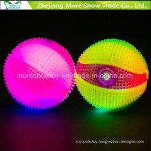 Flashing Sounding Light-up Spiky Puffer Massaging Basketball Toys